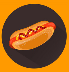 Hot-dog flat style vector