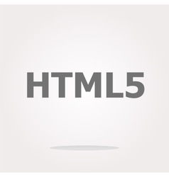 html 5 sign icon Programming language symbol vector image