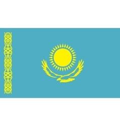 Kazakhstan flag image vector image