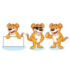 Leopard mascot happy vector