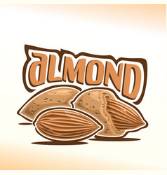 Logo for almond nuts vector