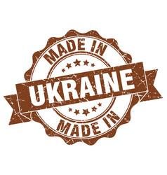 Made in ukraine round seal vector