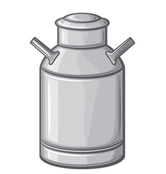 milk can vector image