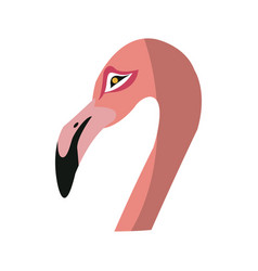 pink flamingo icon vector image