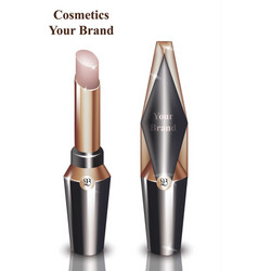 pink lip stick cosmetics packaging mock up vector image