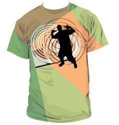 Rap T-shirt vector image