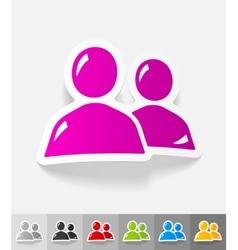 Realistic design element contact ikon vector