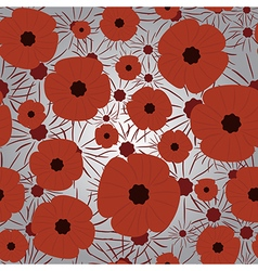 Remembrance Day seamless pattern vector image vector image