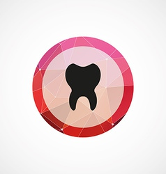 Tooth circle pink triangle background icon vector