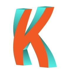 Twisted Letter K Logo Icon Design Template Element vector image vector image