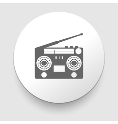 vintage radio tape recoreder vector image vector image