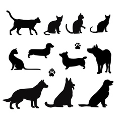 Silhouette of pet vector