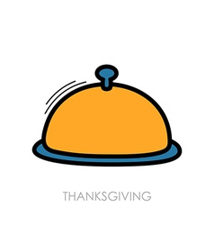 Food tray icon harvest thanksgiving vector