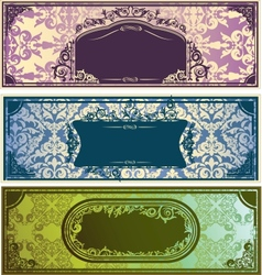 Three horizontal colorful banners with classic vector image