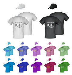 plain male t-shirt templates isolated background vector image