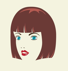 Bob woman hairstyle vector