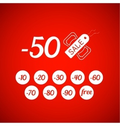 Sale symbol with percent discount tag and dollar vector image