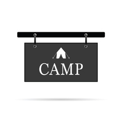 Camp sign with tent vector