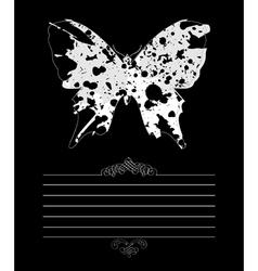framework the butterfly vector image