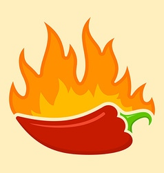 Hot chilli vector image