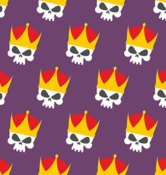 Skull crown seamless pattern background head vector