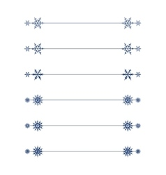Snowflakes divider design vector