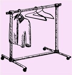 Mobile wardrobe vector