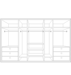drawing of a wardrobe vector image
