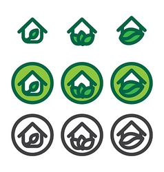 Eco House Template vector image
