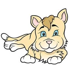 Kitten Laying vector image