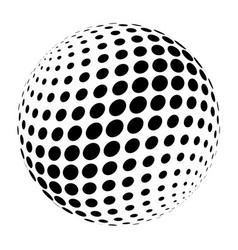 abstract halftone 3d sphere of circle dots in vector image