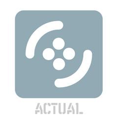 Actual conceptual graphic icon vector