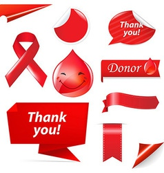 Blood donation set vector
