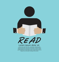 Book reader vector