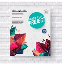 Business Project infographic template vector image