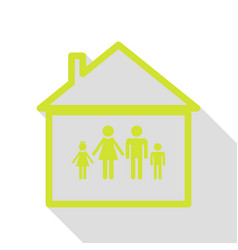 Family sign pear icon with flat vector