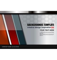 Geometric modern background design vector