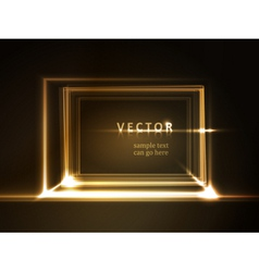 Glowing rectangular frame with light effects vector image vector image