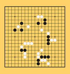 Go game board chinese play china baduk strategy vector