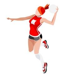 Handball 2016 Sports Isometric 3D vector image