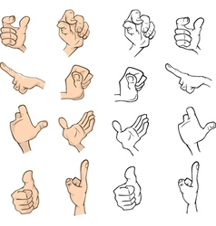 Hands cartoon vector image