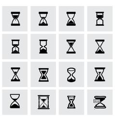 Hourglass icon set vector