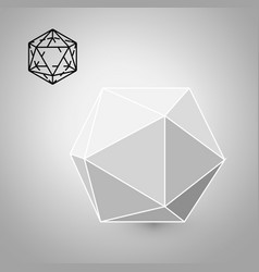 icosahedron is a geometric figure hipster fashion vector image