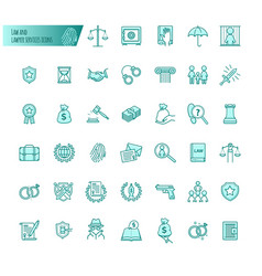 Law and lawyer services icons set for web vector