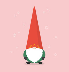 little santa claus vector image vector image
