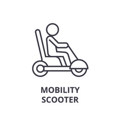 Mobility scooter line icon outline sign linear vector