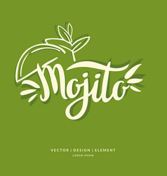 modern hand drawn lettering label for cocktail vector image vector image
