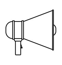 monochrome silhouette of megaphone icon vector image