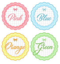 Pastel cute badges collection vector
