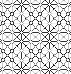 Seamless abstract monochrome grid pattern vector